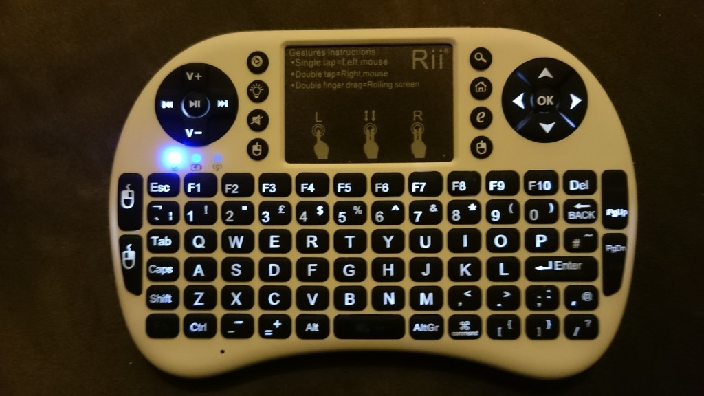 Rii Mini i8+ wireless keyboard backlighting